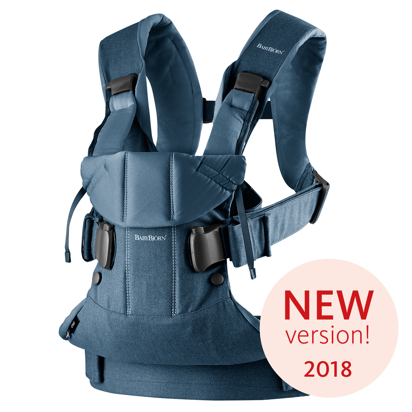 Ergonomické nosítko Babybjorn ONE Classic Denim/ Midnight blue Cotton 2018