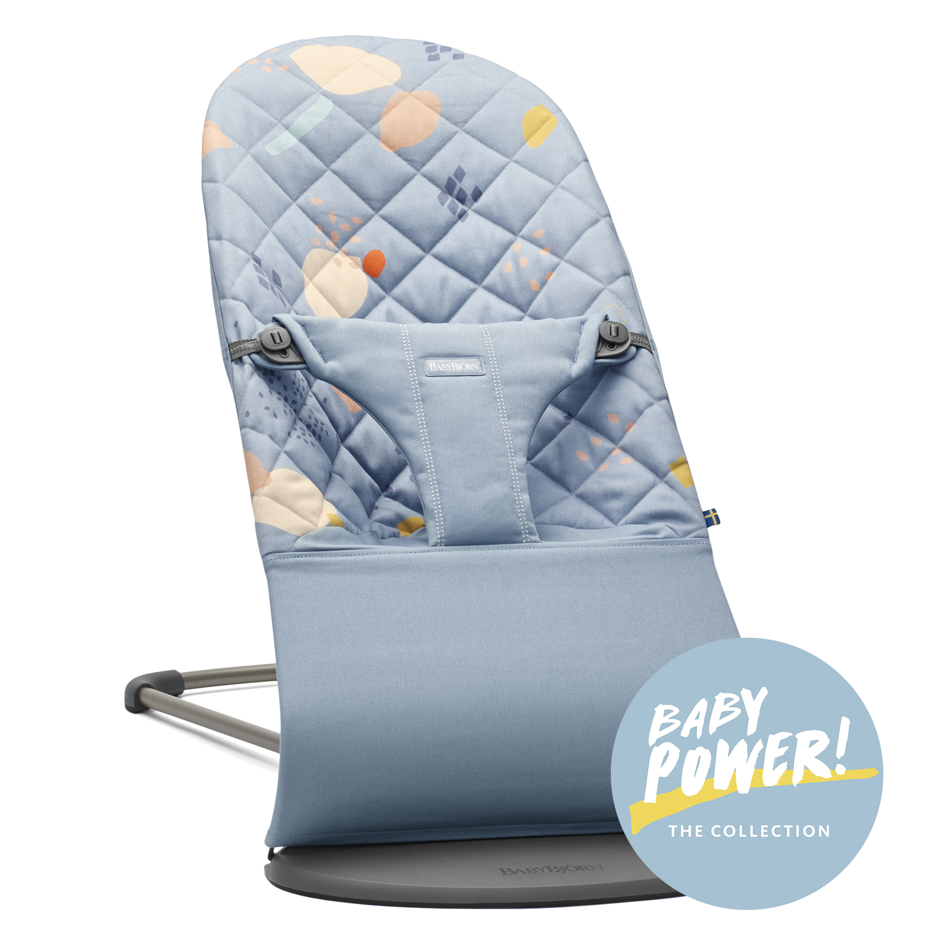 Lehátko Babybjorn Bouncer Bliss Confetti/Blue cotton, kolekce Baby Power