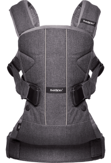 Ergonomické nosítko Babybjorn ONE Denim Grey Cotton mix