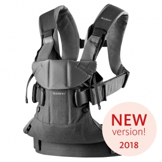 Ergonomické nosítko Babybjorn ONE Denim grey/Dark grey Cotton 2018