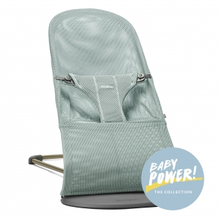Lehátko Babybjorn Bouncer Bliss Frost Green Mesh kolekce Baby Power