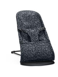 Lehátko Babybjorn Bouncer Bliss Anthracite/Leopard Mesh SOFT Collection