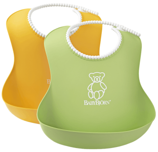 Bryndák měkký Soft Green/Yellow - set 2 ks , BabyBjörn